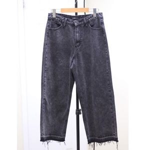 Denim - High waisted wide leg jeans